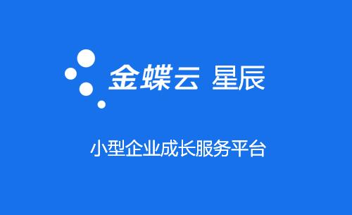金蝶云星辰,小微企业成长云服务平台